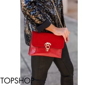 TopShop Panther Clutch Crossbody